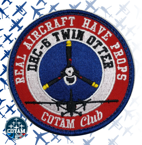 Patch DHC-6 Twin Otter-real aircraft have props- COTAM Club- militaire