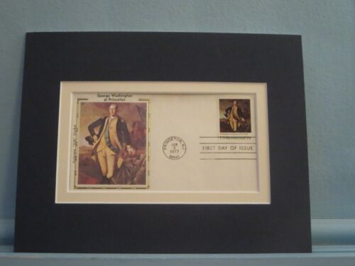 George Washington at the Battle of Princeton & First day Cover of his own stampReenactment & Reproductions - 156378