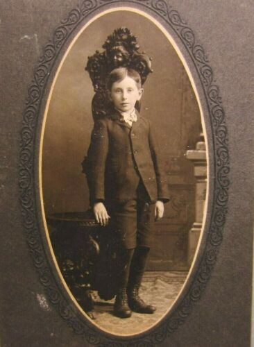 Victorian Antique Cabinet Card Photo of a Young Boy Child