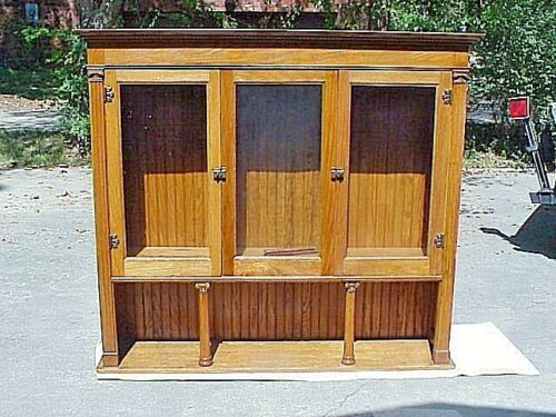 ANTIQUE OAK (TOP HALF) BUILT IN THE WALL CHINA HUTCH