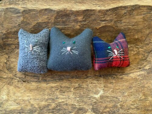 Primitive Baby Kitty Cats Bowl Fillers Set of 3   Ornies  Winter