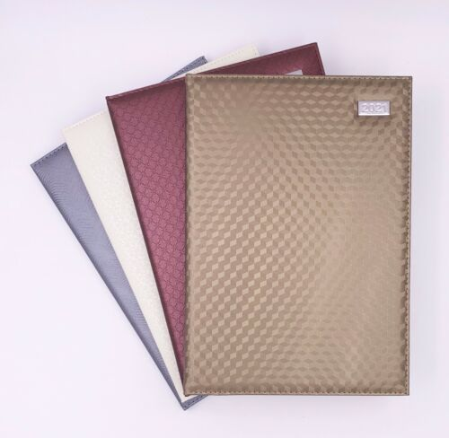 2021 Diary A4 Size Week to View 4 Colours 304mm x 215mm PVC Textured Cover