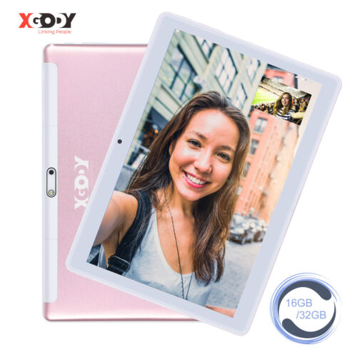 """XGODY 10.1"""" inch HD 1+16GB Android 7.0 Tablet PC Quad Core Phablet Dual Camera"""