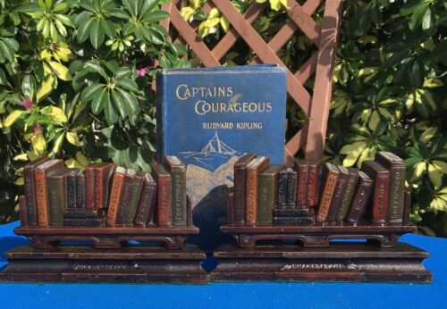 vintage Judd bookends, Shakespeare's Books, circa 1925, 15 pounds