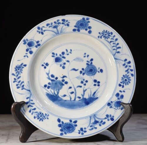 Chinese Export porcelain plate, garden pattern, c. 1760