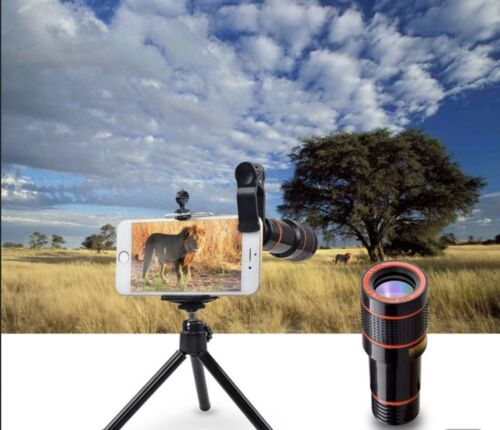 HD 12x Zoom Lens for Smartphone Cell phone Telephoto Tablet Camera Zoom Lens USA