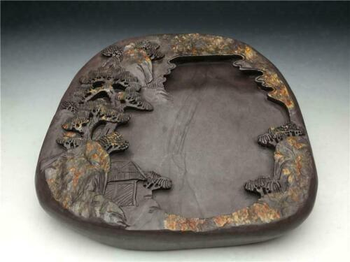 Chinese Old Ink Stone / W 16.8[cm] / Qing Urn Pot Plate Bowl