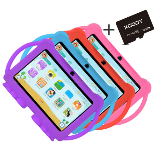 """XGODY 7"""" in Kids Tablet PC Android 8.1 16/32GB Bluetooth WIFI Bundle Case T702"""