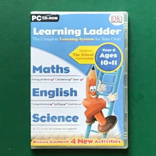 PC CD ROM Learning Ladder MATHS/READING/SCIENCE Year 6 Ages 10-11