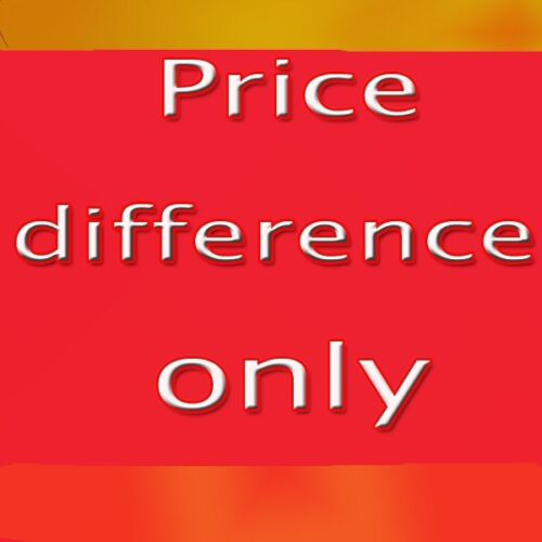 Price Difference For Customized Order  in Our Store