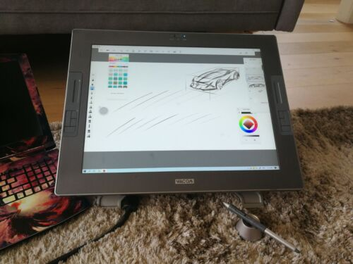 Wacom DTZ-2100D Cinitiq 21UX Tablet With Stand and Pen- Fair ConditionNo charger
