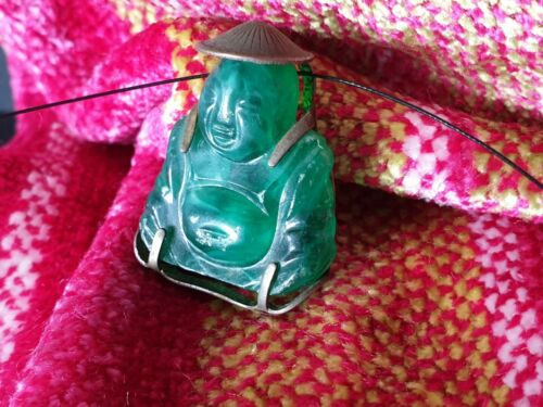 Old Chinese Good Luck Buddha Pendant on Cord  …beautiful collection and accent p