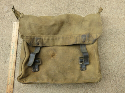 AUSTRALIAN WW1 ARMY HAVERSACK LIGHT HORSE ETC WEBBING & LEATHER STRAPS BAG  1914 - 1918 (WWI) - 13962