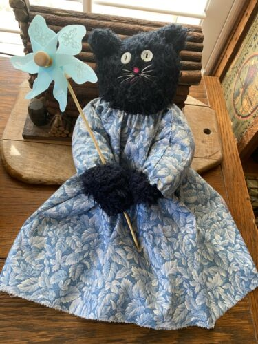 Primitive  Kitty Cat Doll   Shirley and The Easter Pinwheel