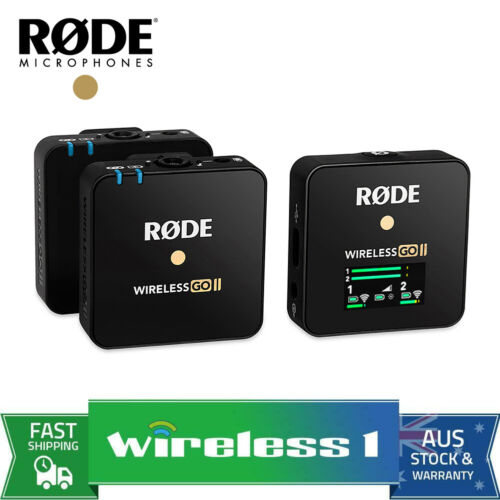 Rode Wireless GO II Dual Channel Wireless Microphone System <br/> 10%off w PLUS10T/15% off w PXTRA5(Afterpay) T&C Apply