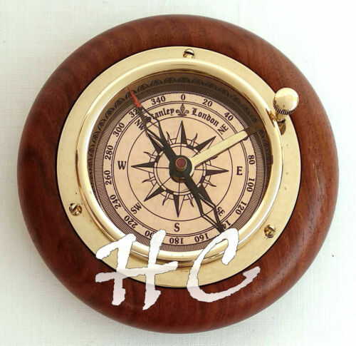 Stanley London Brass Magnifying/Navigational/Magnetic Sailing Ship Boat Compass