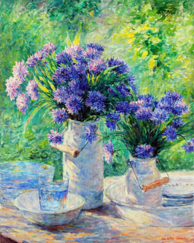 Wall art Aster flower still life Oil painting HD Giclee printed on canvas L2983