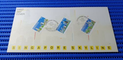 1987 Singapore First Day Cover Singapore Skyline Special Stamp Issue