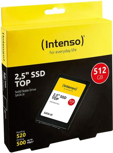 HARD DISK SSD STATO SOLIDO 2,5 INTENSO TOP 512GB SATA III 6Gb/s