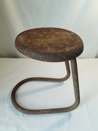"Vtg Milking Stool 12"" Barn Find Country Primitive Decor Display ~ Plant Stand"