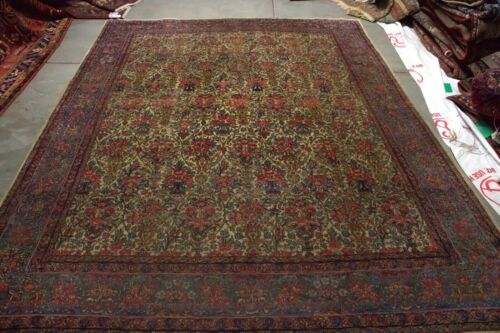 10x7.7 HANDMADE ANTIQUE  RUG  MASTERPIECE ONE OF THE KIND %100 WOOL