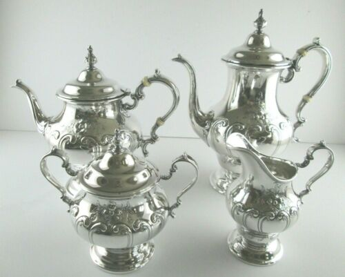 Vintage Gorham CHANTILLY Countess Sterling Silver Tea Serving Set - 4pc