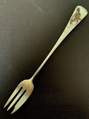 Gorham Aesthetic MIXED METALS Sterling Cocktail Fork JAPANESE Plant
