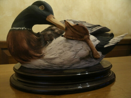 """FLORENCE Giuseppe Armani """"MISTY MORNING""""Duck Statue Sculpture 1999 Made in Italy"""
