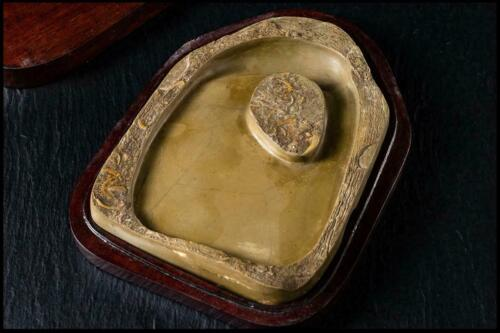 Chinese Old Fossil Ink Stone / W 17.1[cm] / Qing Urn Pot Plate Bowl