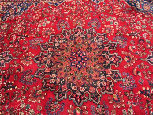 """Stunning Vintage Antique Hand-knotted Rug 12' 4""""x 9' 7"""""""