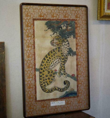 Korean Joseon Dynasty 18th TIGER Painting / W 63× 93[cm] Pot Plate