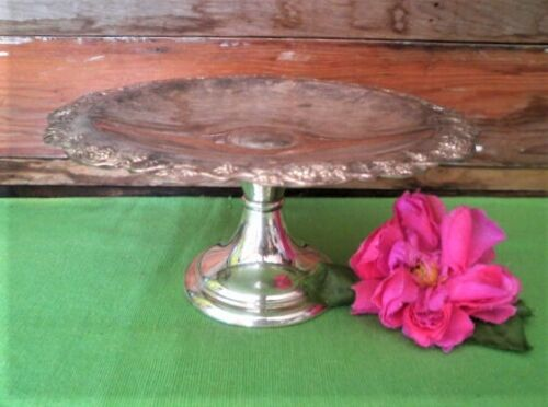 VINTAGE CAKE STAND SILVER PLATED RENOWN A1 QUALITY GRAPE VINE DESIGN HIGH TEA