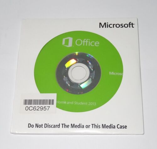 Microsoft Office Home and Student 2013 genuine DVD, sealed pack, product key