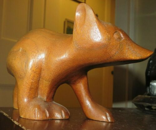 vintage signed wood wooden carved bear Cherokee D Smith