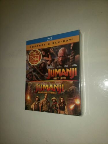 Jumanji next level et jumanji bienvenu dans la jungle 2 Films Blu-Ray neuf
