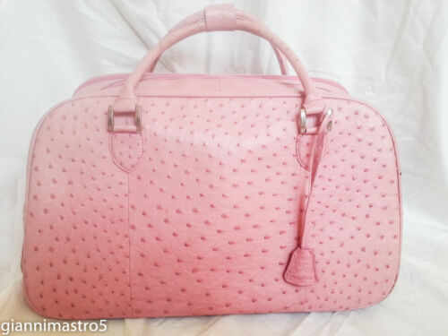 Authentic Ostrich Travel Bag Trolley