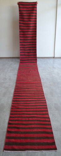 Navajo Style Runner Rug Stair Tread, Hand MADE Extra Long Kilim Rug 2.1x19.11 Ft