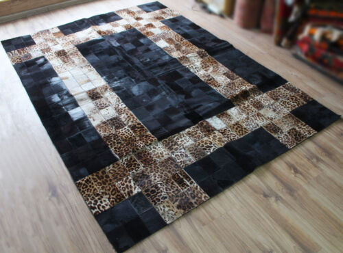 Turkish Rug 64''x90'' Special Production Patchwork Fur Rug 164x230cm