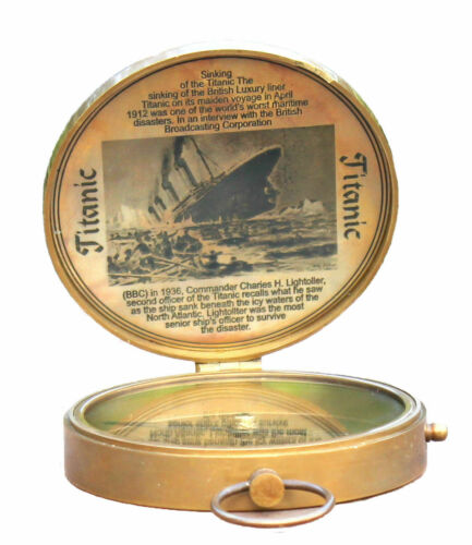 Magnetic Antique Titanic Compass 3 Inch Pocket Instrument Camping Pocket Gift