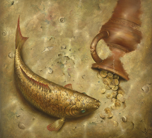 Vladimir Kush What the Fish was Silent About Unframed - Cert of Auth Provided