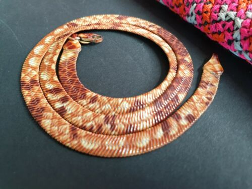 Old Coloured Choker Necklace in Yellow & Brown …beautiful collection and ac
