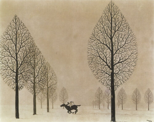The Lost Jockey by Rene Magritte  Giclee Canvas Print Repro