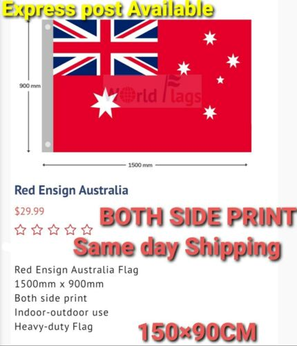 NEW Red Ensign Flag Heavy Duty1500×900mm AUS STOCK SAME DAY FREE SHIPPING