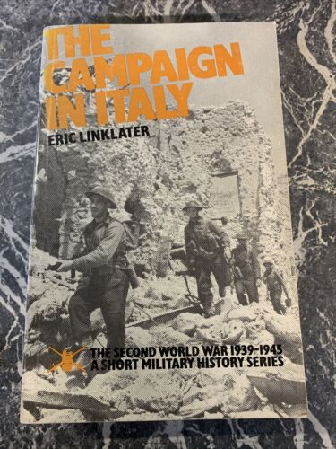 VINTAGE BOOK WAR WW2 PAPERBACK THE CAMPAIGN IN ITALY LINKLATER DAMAGED 201939 - 1945 (WWII) - 13977