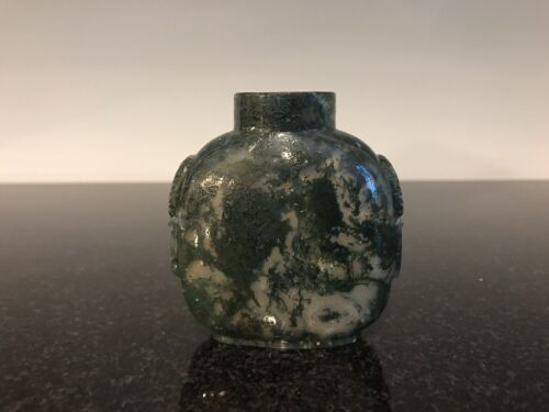Moss Agate Chinese Snuff Bottle
