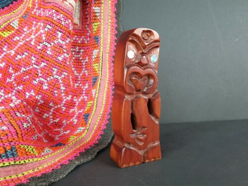 Old New Zealand Carved Wooden Tiki (S) …beautiful collection and display piece