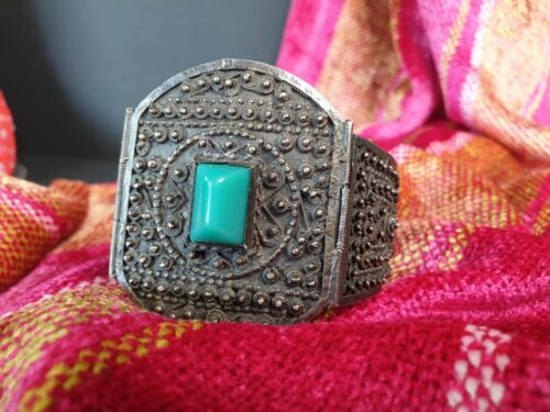 Old Tibetan Handmade Bracelet with Local Turquoise Stone  …beautiful collection