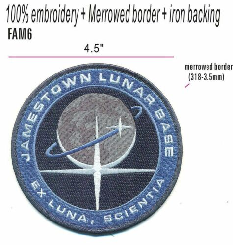 """""""FOR ALL MANKIND"""" TV SHOW - JAMESTOWN LUNAR BASE PATCH - FAM6"""