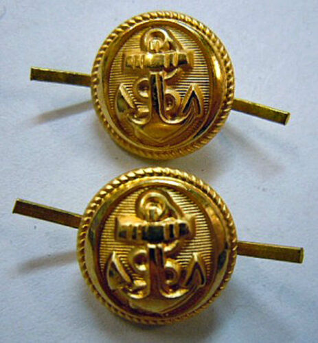 Boutons or  jugulaire casquette MARINE NATIONALE ORIGINAL NAVY CAP BUTTONS