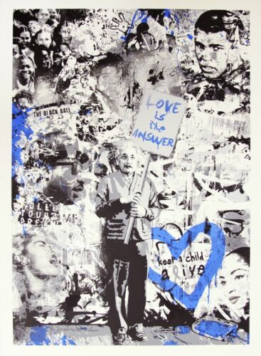 Mr Brainwash Keep a Child Alive Signed Print Love is the Answer Buy Life Blue